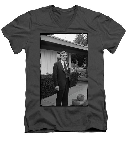 Lawyer With Can Of Tab, 1971 Men's V-Neck T-Shirt