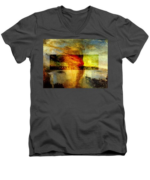 Layered 12 Turner Men's V-Neck T-Shirt by David Bridburg