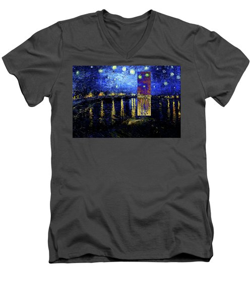 Layered 15 Van Gogh Men's V-Neck T-Shirt