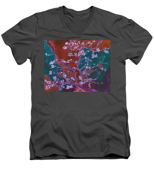 Layered 2 Van Gogh Men's V-Neck T-Shirt