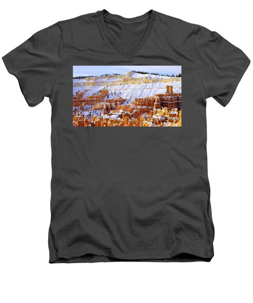 Men's V-Neck T-Shirt featuring the photograph Layers by Chad Dutson