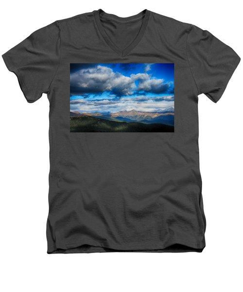 Layers Of Clouds On Mount Evans Men's V-Neck T-Shirt