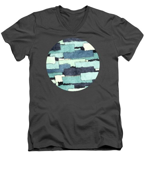 Layers Of Colors Pattern Men's V-Neck T-Shirt by Phil Perkins