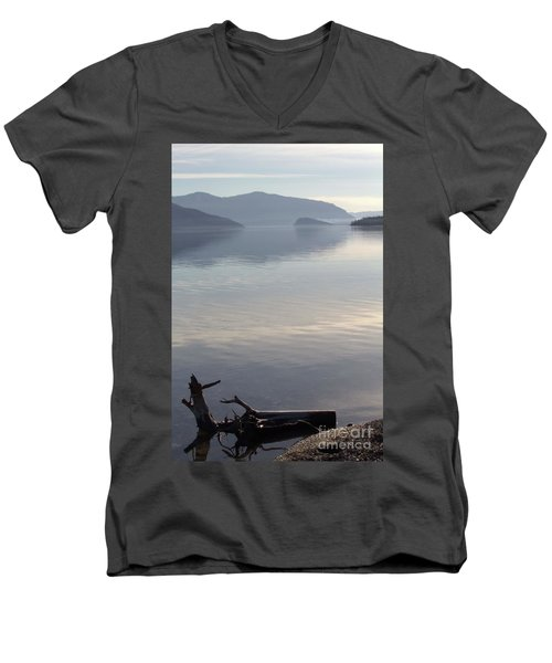 Men's V-Neck T-Shirt featuring the photograph Laying Still by Victor K