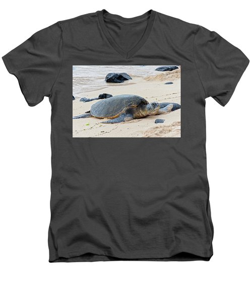 Lazy Day At The Beach Men's V-Neck T-Shirt