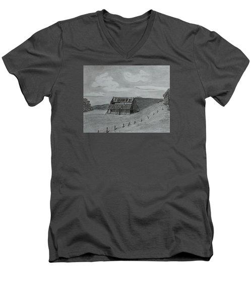 Lazy  Days  Men's V-Neck T-Shirt by Tony Clark
