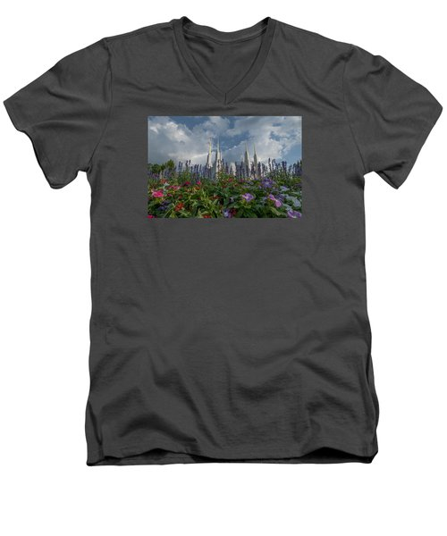 Lds Garden Flowers Men's V-Neck T-Shirt