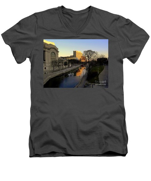 Men's V-Neck T-Shirt featuring the photograph Le Rideau, by Elfriede Fulda