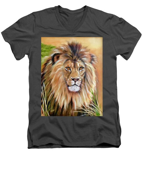Le Roi-the King, Tribute To Cecil The Lion   Men's V-Neck T-Shirt