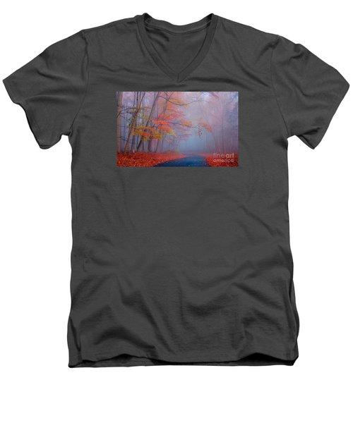Journey Men's V-Neck T-Shirt by Rima Biswas