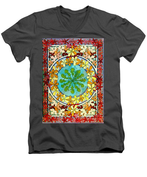 Leaf Motif 1901 Men's V-Neck T-Shirt