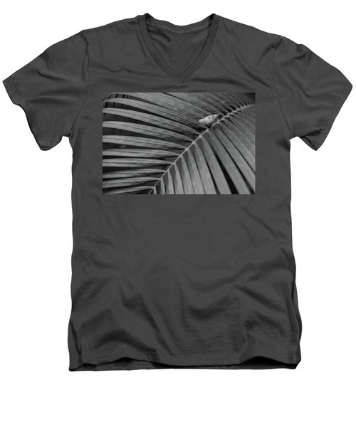 Men's V-Neck T-Shirt featuring the photograph Leaf On Leafs by Jingjits Photography