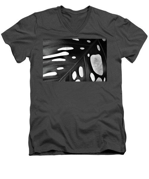 Leaf With Holes Men's V-Neck T-Shirt