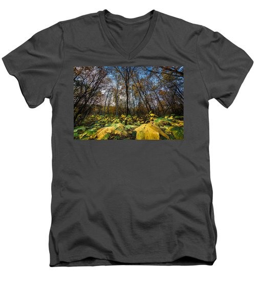 Leafy Yellow Forest Carpet Men's V-Neck T-Shirt