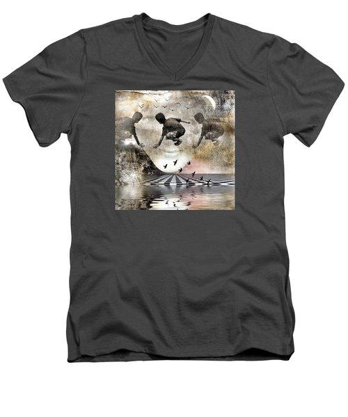 Lean On Me Men's V-Neck T-Shirt