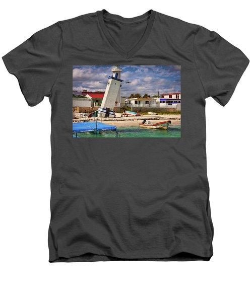 Leaning Lighthouse Men's V-Neck T-Shirt