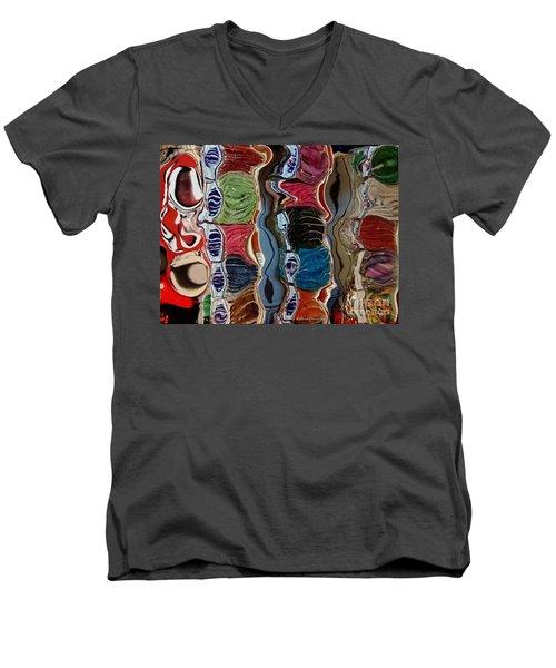 Men's V-Neck T-Shirt featuring the photograph Poupourri by Kathie Chicoine