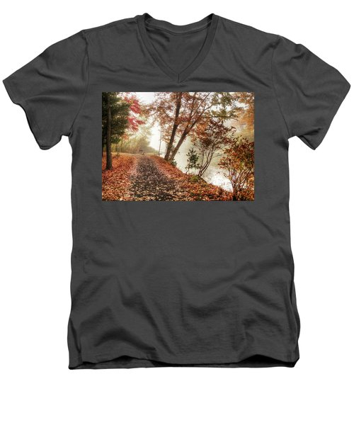 Leaning Tree Men's V-Neck T-Shirt