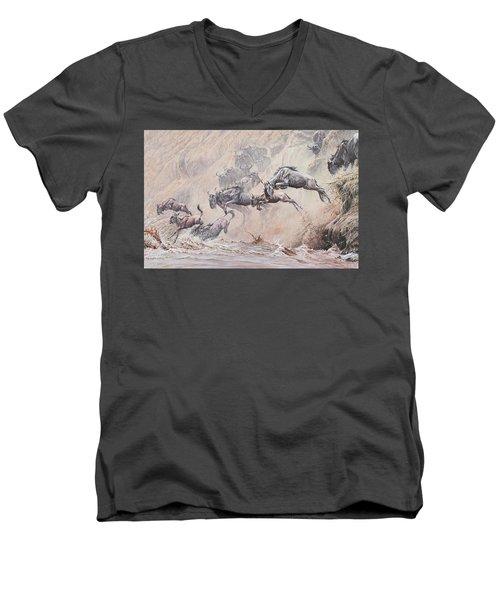 Leap Of Faith Men's V-Neck T-Shirt