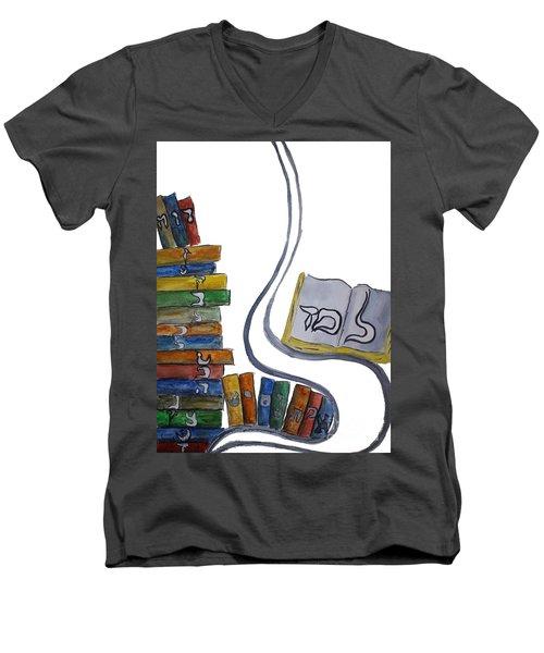 Learning Lamed Men's V-Neck T-Shirt