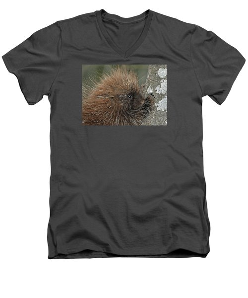 Men's V-Neck T-Shirt featuring the photograph Learning To Climb by Glenn Gordon