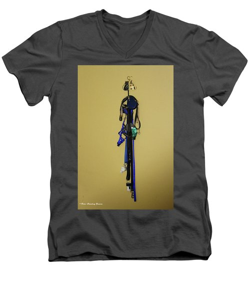 Leash Lady Just Hanging On The Wall Men's V-Neck T-Shirt