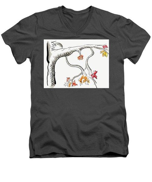 Leave Love Alone 1 Men's V-Neck T-Shirt