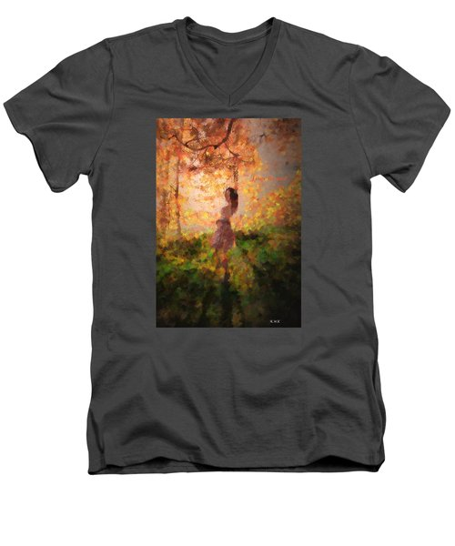 Men's V-Neck T-Shirt featuring the photograph Leave The Past by Rose-Maries Pictures