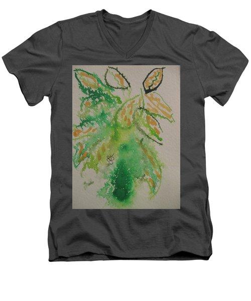 Leaves Men's V-Neck T-Shirt by AJ Brown
