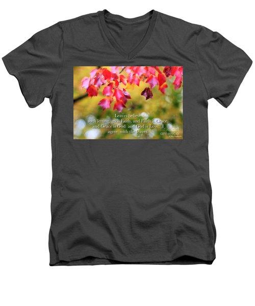 Leaves Believe Men's V-Neck T-Shirt