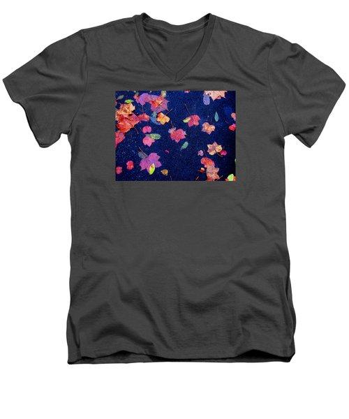 Leaves Men's V-Neck T-Shirt by Christopher Woods