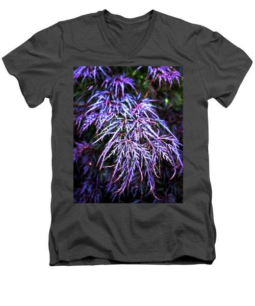 Leaves In The Light Men's V-Neck T-Shirt by Robert FERD Frank