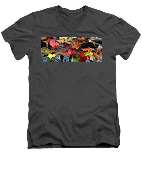 Leaves Of Color Men's V-Neck T-Shirt