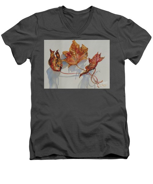 Leaves Of Fall Men's V-Neck T-Shirt by Mary Haley-Rocks