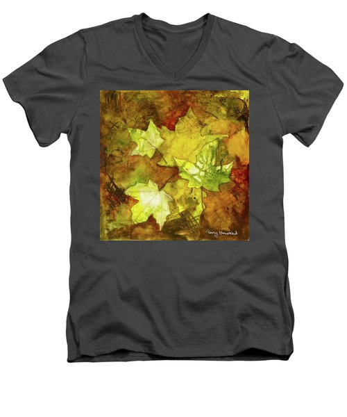 Leaves Men's V-Neck T-Shirt by Terry Honstead