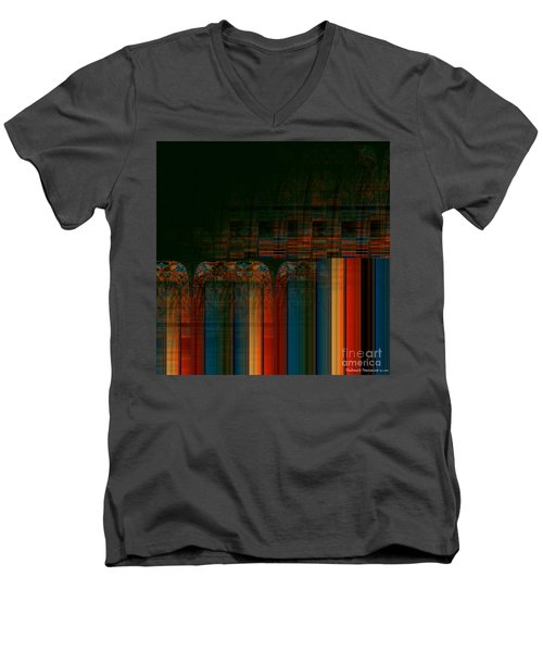 Leaving Darkness Men's V-Neck T-Shirt by Thibault Toussaint