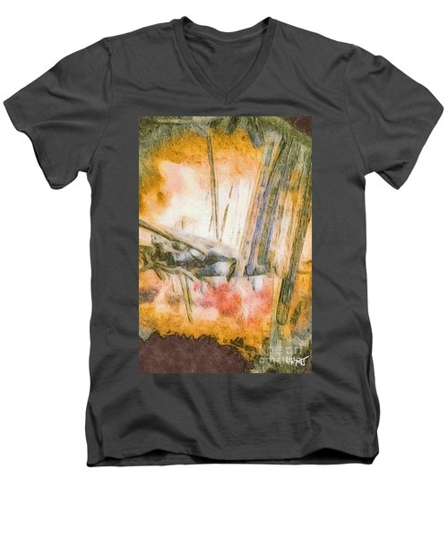 Men's V-Neck T-Shirt featuring the photograph Leaving The Woods by William Wyckoff