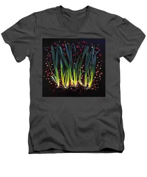Leeks Men's V-Neck T-Shirt