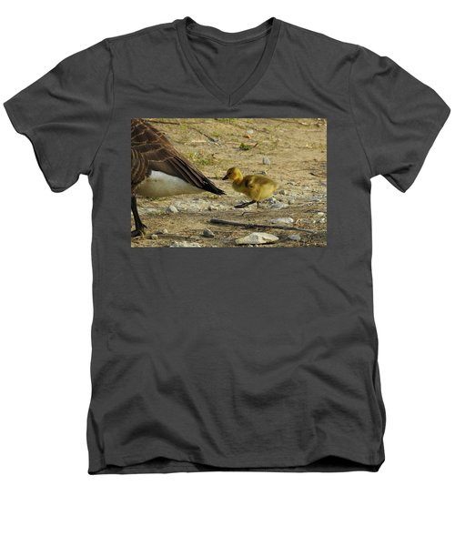 Men's V-Neck T-Shirt featuring the photograph Left     Right    Left by Betty-Anne McDonald