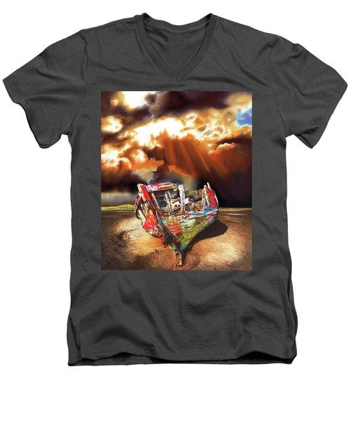 Left For Dead Men's V-Neck T-Shirt