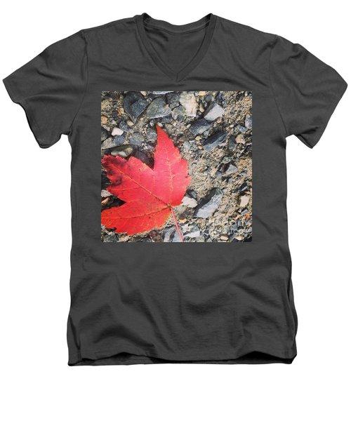 Left For Red Men's V-Neck T-Shirt by Jason Nicholas