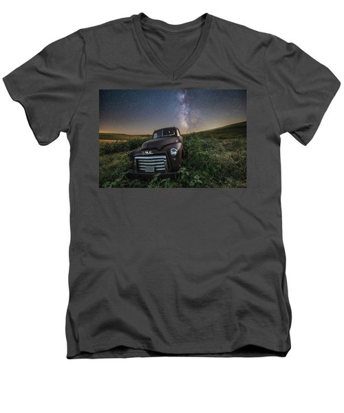 Men's V-Neck T-Shirt featuring the photograph Left To Rust by Aaron J Groen