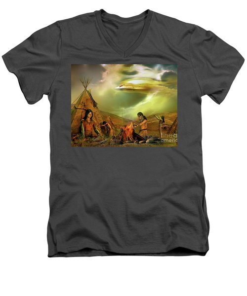 Legends Of The Sky People  Men's V-Neck T-Shirt by Shadowlea Is