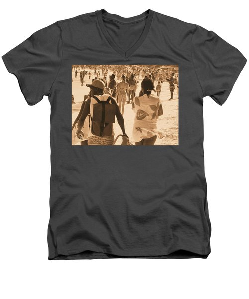 Men's V-Neck T-Shirt featuring the photograph Legion by Beto Machado