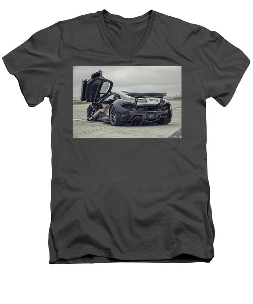 #mclaren #mso #p1 #wheels And #heels Men's V-Neck T-Shirt