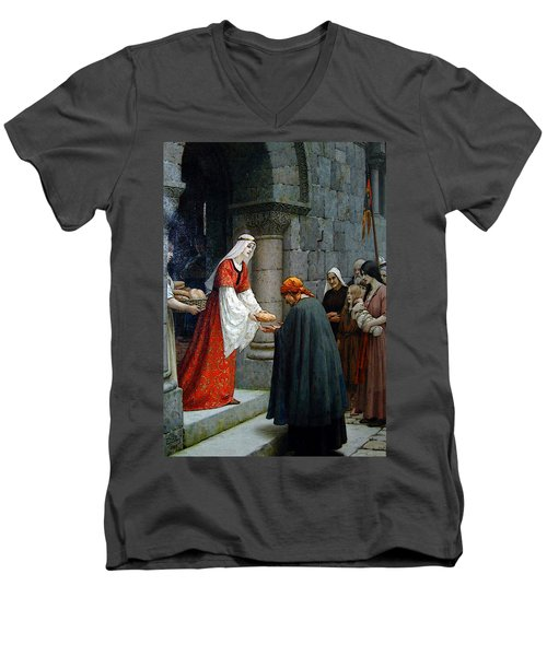 Leighton Edward Blair Charity Of St Elizabeth Of Hungary Men's V-Neck T-Shirt