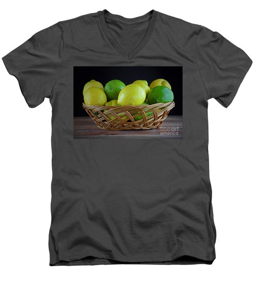 Lemon And Lime Basket Men's V-Neck T-Shirt