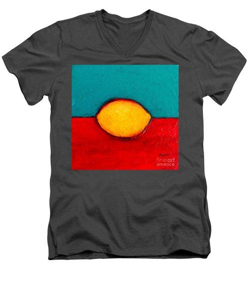 Lemon Men's V-Neck T-Shirt by Fred Wilson