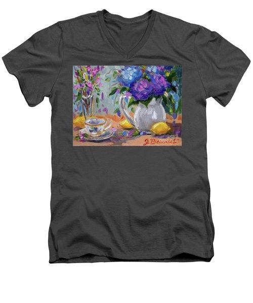 Lemons And Purple  Men's V-Neck T-Shirt