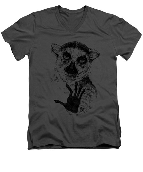 Lemur Men's V-Neck T-Shirt